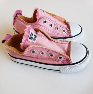 Converse Shoes - Toddler girl 7 side velcro Converse
